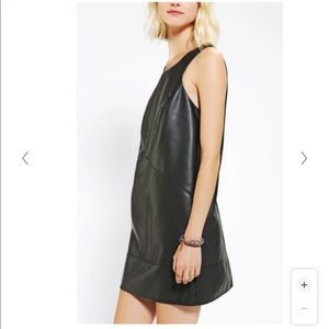Leather like black dress from Silence + Noise
